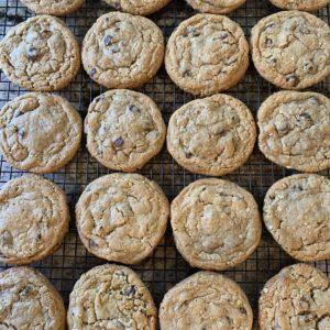 This is a pan of freshly baked cookies