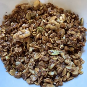 This is a close up photo of granola.